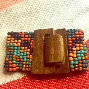 Fun! Wood and Bead Bracelet!